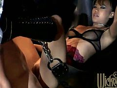 A sexy Asian girl and her man end up in the dungeon where he licks her boots and does whatever her wicked heart desires.