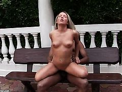 Blonde Bianca Arden shows her love for beaver banging in crazy hardcoreaction with hot dude