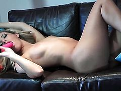 Extremely horny vixen Sophia Knight is ready to pose naked and play with herself from dusk till dawn