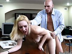 Johnny Sins gets his always hard love stick used by Rylie Richman