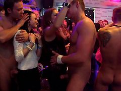 Needy babes are in for serious action while attending to rough sex party