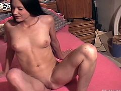 This horny-ass bitch gets her twat fucked hard by some hard fucker that repeatedly shoves his boner balls deep into the slut's slit. Check it out!
