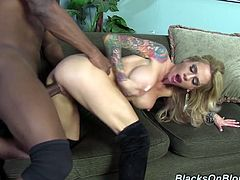This astonishing cougar is so horny and wet so she brings home that black dude to fuck her hard. Enjoy watching this goddess MILF in interracial sex.