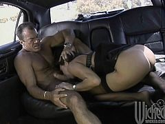 Tasty MILF Michelle Lay Blowing And Fucking In The Car
