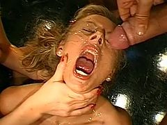Dirty babes are in love with having great loads splashing over their faces