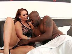 Janet Mason knows Lexington Steele wants her tight pussy and shows off her juicy ass and titties outdoors. She goes to his bed an begs him to play with her.