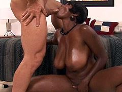 This voluptuous ebony is eager to have her puffy twat ravaged in hardcore