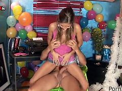 Birthday Party Pissing And hard fucking funtime For Sensuous Nasty nymph