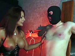 Mistress carly : syringing sperm from my slave