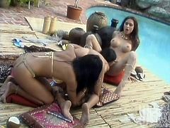 Just look at these charming and delicious babes! They are acting so naughty in this lesbian porn video! Damn, chicks are so sassy and so damn hungry!