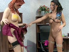 Sweethearts are having a naughty time playing together in raw fetish oral