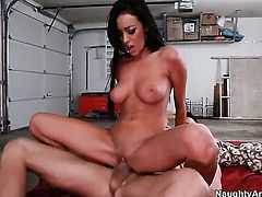 Billy Glide stretches nasty Breanne Bensons fuck hole with his rock hard meat stick to the limit