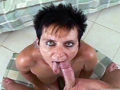 This is a compilation of scenes where sluts get a cumshot in their fuckin' mouths and taste the jizz. Check it out right here!