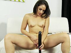 Have fun jerking off to this solo scene where the horny Sheena Ryder gives you something to bust a nut to as she masturbates with a dildo.