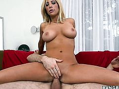 Tasha Reign with juicy booty enjoys rock hard fuck stick in her mouth