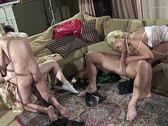 There are cheerleaders and lingerie hookers in this vintage remake porno! Hot blondes, big studs, two on two and swallow that load!