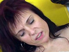 Press play and check out this hot scene where these two mature ladies eat each other out in the kitchen as you hear them moan.