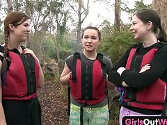 Three nasty amateur lesbian teens are ready to try oral sex and fingering on a raft. Courtesy of Girls Out West you can see them having a hell of a time!