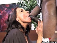 Carina Roman is drilled by a large black cock