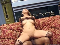 Light haired well graced ebony babe with magnificent Mamillas got her dirty mouth passionately loped by BBC. Watch this hot African loping in Fame Digital porn clip!