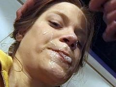 Hot beauties are crazy about warm jizz splashing their needy mouths