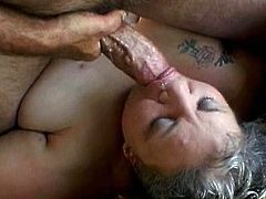 Nothing can bring her more pleasure than a big cock pounding that fat pussy