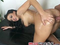 Long haired raven head steamy babe with delicious Mamillas and sexually attractive booty posed cowgirl way on massive thirsting penis of her BF and rided it passionately. Watch this wanton sex doll in My XXX Pass sex clip!