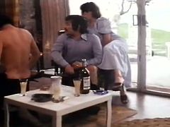 Two different scenes are shown in the same retro porn video. First scene introduces you to filthy lesbian MILFs having kinky sex. Meanwhile, filthy swingers fuck together in foursome. Exciting vintage sex clip presented by The Classic Porn.