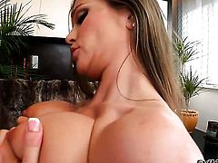 Rita Faltoyano gulps James Brossmans hard dick after she takes it in her bottom