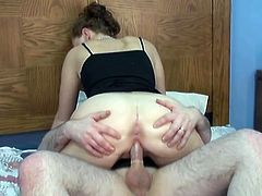 My big bottomed amateur girlfriend blows my cock like nobody else before. Then I drill her pussy hard in doggy position.Enjoy watching our homemade sex video.