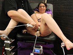 Watch Kiki Daire being pleased by machines in this hot scene I'm sure you're going to love and watch various times.