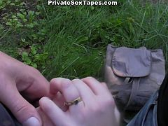 Long haired pretty looking naive bitch camped together with one brutal stud. He took her fresh pussy right in forest on ground. Actually, this chick was not against, but that poking turned a little painful. Watch this camping fuck in WTF Pass porn clip!