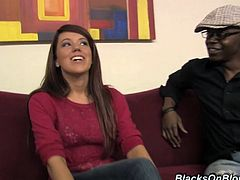 Appetizing Lizzie Tucker Has An Interracial Threesome With Two Black Guys