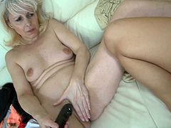 This hot slutty brunette get seduced by her pervert nanny. And this mature woman licks her tight pussy. Watch this lesbian sex in Old Nanny xxx video!