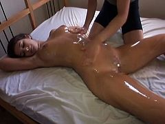 censored asian busty woman oil massage