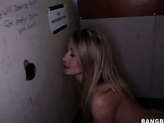 Casi James is in heat in handjob action