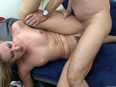 Make sure you have a look at this hardcore scene where the slutty blonde Angel Long ends up with a mouthful of cum after being fucked up her tight asshole.