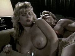 If you are into classic porn then this video is worth your attention. This spoiled blondie knows that she's driving her lover crazy so she makes him worship her sweet pussy. Horny dude licks it like a true cunt licker. Then he fucks her in missionary position.