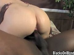 Claudia Downs with two black cocks. Of course any white slut will say she loves black dick when you pay her enough to say it, but with Claudia, that's not acting, she's a tried and true black cock slut.