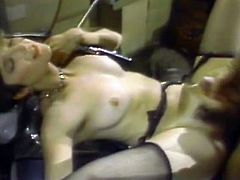 These lascivious hot like hell babes need no man. They can do everything without studs. They grant passionate and unforgettable cunny licking and nipple suck one another. Watch these blond voracious lesbians in The Classic Porn sex clip!