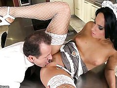 Teen Bettina Dicapri cant live a day without getting fucked by horny guy