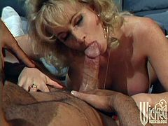What a sizzling one Kylie Ireland is! Honey is a retro girl in a retro porn, sucking a big penis and enjoying it in her twat, even though he has a condom on.