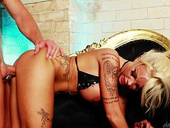 A hot fuckin' blonde bitch gets her fuckin' pussy fucked hard in this hot-ass fuckin' scene right here, hit play and check it out!