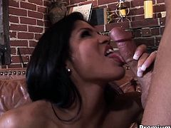 Latina hottie Alexis Amore prepares a cock to get her