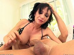 Torn slut takes massive dick all the way in until she starts gagging. Her face turns red and her make-up goes messy while she gives extreme deepthroat blowjob. Check out this hardcore porn video presented by My XXX Pass.