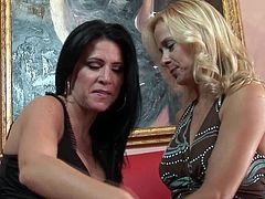 Lesbian milfs enjoying themselves
