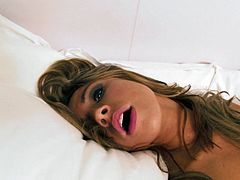 Long haired voracious blondie with tiny titties posed mish way leg spread in bed and employed delicious red fuck stick to make her kitty fell awesome. Look at this insatiable bim in Mofos Network sex clip!