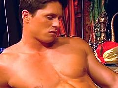 See this nasty arabian king put some of his cum inside his servant's mouth in this tube video.