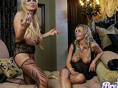 These blondes are crazy for some hardcore pussy pounding action together with some lesbian love. Come watch them get really dirty in this reality porn clip.