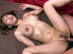 Curvy Japanese hooker Tiara Ayase provides two hard dicks with steamy blowjobs. After a nice doggyfucking Tiara Ayase gets her hairy snapper drilled missionary style.